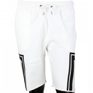 10 Deep Men Dashiki Sweatshorts (white)