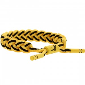 BAIT x Bruce Lee x Rastaclat Shoelace Bracelet (yellow / black)