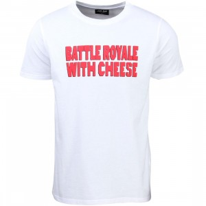 Lazy Oaf Men Battle Royale Tee (white)
