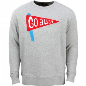 Lazy Oaf Men Go Away Sweater (gray)
