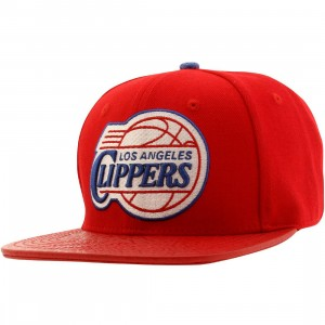 Pro Standard NBA Los Angeles Clippers Logo Adjustable Cap (red / white)
