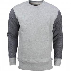 Zanerobe Men Montage 3D Crew Sweatshirt (gray / grey marle / navy mesh)