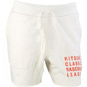 Reebok x Maison Kitsune Men Baseball Shorts (white / cream white)