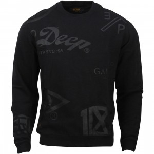10 Deep Full Clip Crewneck (black)