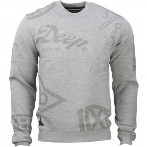 10 Deep Full Clip Crewneck (gray / heather gray)