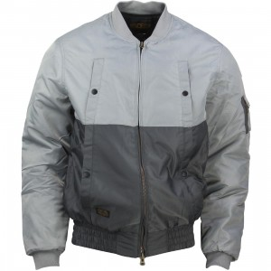 10 Deep Split Aviator Jacket (gray)