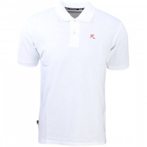 BAIT x Street Fighter Akuma Polo Shirt (white)