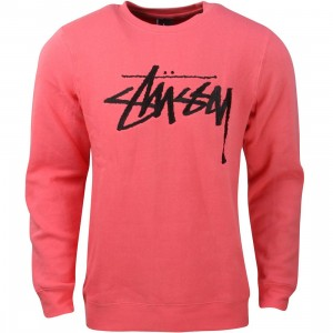 Stussy Men Stock EMB Crew Sweater - Fall 2015 (pink)