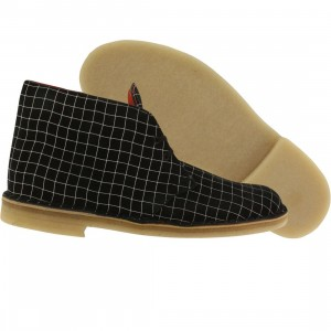 Clarks Men Desert Boot (black / white grid)