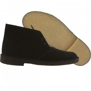 Clarks Men Desert Boot (black / black suede)
