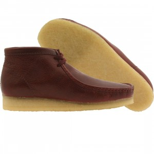 Clarks Men Wallabee Boot (burgundy)
