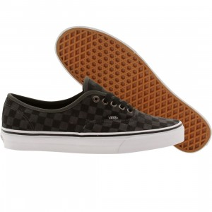 Vans Men Authentic Checkerboard suede (gray / dark shadow)