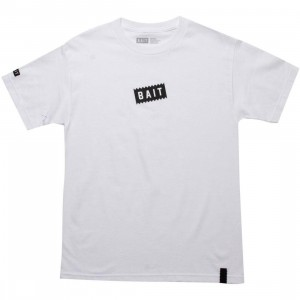 BAIT Slanted Box Logo Tee (white)