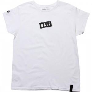 BAIT Womens Slanted Box Logo Tee (white)