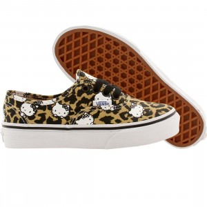 Vans Little Kids Authentic Hello Kitty (brown / leopard / true white)