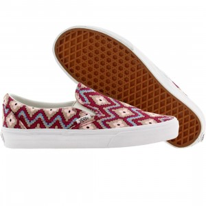 Vans Men Classic Slip On Geometric (purple / festival fuchsia)
