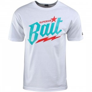 BAIT Superior BAIT Tee - Viridian Burner (white / teal / red)