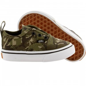 Vans Toddler Authentic V Camo (olive / true white)