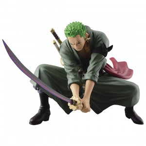 PREORDER - Banpresto One Piece Scultures Big Banpresto Figure Colosseum 4 Vol.3 Roronoa Zoro Figure (green)