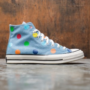 Converse x Golf Wang Men Chuck 70 Hi Polka Dots (blue / egret / black)