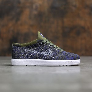 Nike Women Tennis Classic Ultra Flyknit (olive / olive flak / white-deep royal blue-black)