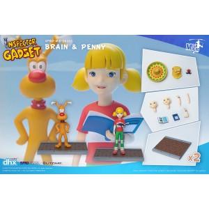Blitzway 5Pro Studio Mega Hero Inspector Gadget - Brain And Penny Figure (red)
