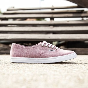 Vans Women Authentic Lo Pro - Floral (burgundy / white)