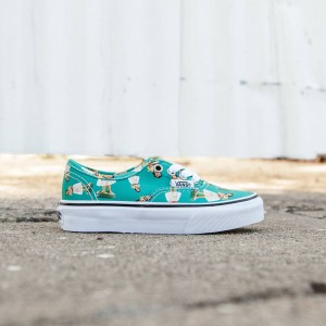 Vans Big Kids Authentic - Digi Hula (teal / turqoiuse / white)