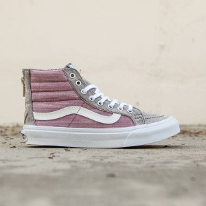 Vans Women Sk8-Hi Slim Zip - Floral Chambray (gray / true white)