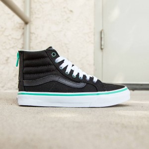 Vans Women SK8-Hi Slim Zip - Iridescent Eyelets (black)