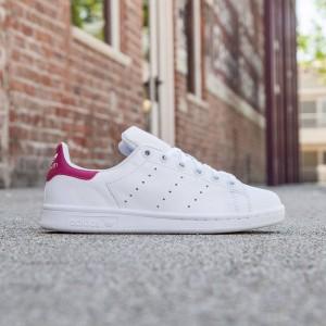 Adidas Big Kids Stan Smith (white/ footwear white / bold pink)