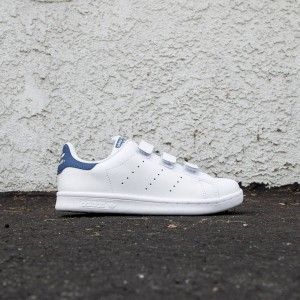 Adidas Little Kids Stan Smith CF (white / eqt blue)