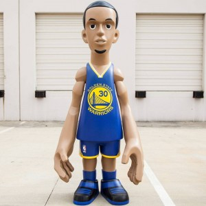 MINDstyle x NBA Golden State Warriors Stephen Curry 7 Foot Statue (blue)