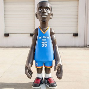 MINDstyle x NBA Oklahoma City Thunder Kevin Durant 7 Foot Statue (blue)