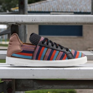 Adidas Consortium x Pharrell Williams Men Elastic Lace Up - Pink Beach (black / eqt blue / college red)