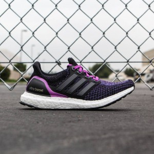 Adidas Women Ultra Boost (black / core black / shock purple)