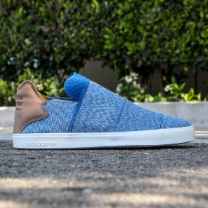 Adidas x Pharrell Williams Men Vulc Slip-On (blue / clear grey / chalk white)