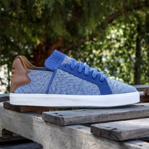 Adidas x Pharrell Williams Men Vulc Lace-Up (blue / clear grey / chalk white)