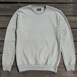 BAIT Men Premium Crew Neck Sweater - Made in Los Angeles (gray / heather)