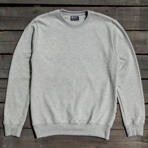 BAIT Men Premium Crew Neck Sweater - Made in Los Angeles (gray / heather)