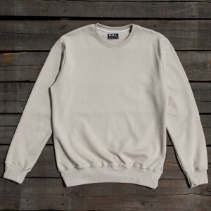 BAIT Men Premium Crew Neck Sweater - Made in Los Angeles (gray / turtledove)