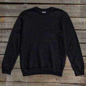 BAIT Men Premium Crew Neck Sweater - Made in Los Angeles (black)