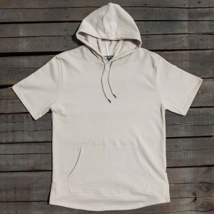 BAIT Men Premium Short Sleeve Hoody - Made In Los Angeles (gray / turtledove)