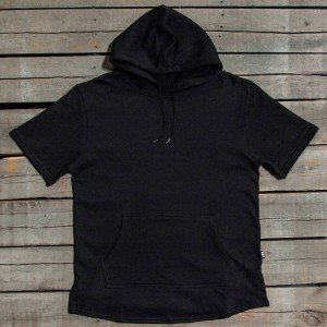 BAIT Men Premium Short Sleeve Hoody - Made In Los Angeles (black)