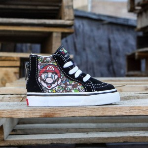 Vans x Nintendo Toddlers Sk8-Hi Zip - Mario And Luigi (black / true white)