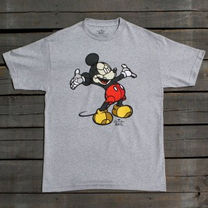 BAIT x David Flores Men Mickey Tee (gray / heather grey)