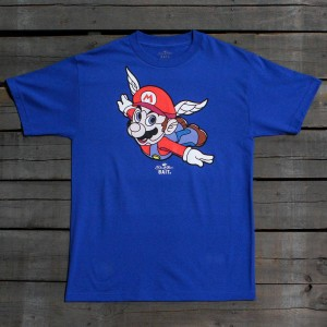 BAIT x David Flores Men Mario Tee (blue / royal blue)