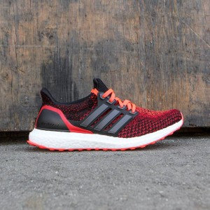 Adidas Big Kids Ultra Boost (black / core black / solar red)