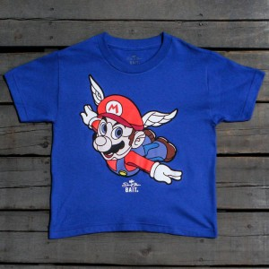 BAIT x David Flores Mario Youth Tee (blue / royal blue)