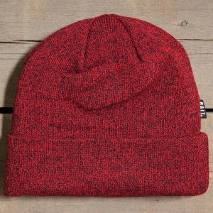 BAIT Folded Beanie (heather red / black)
